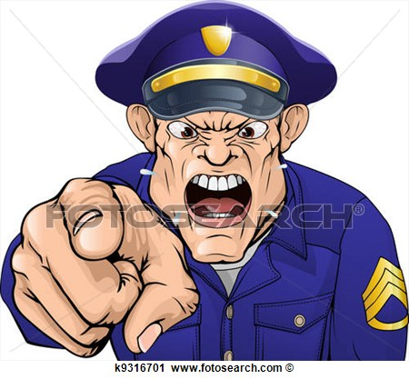 Clipart   Angry Policeman  Fotosearch   Search Clip Art Illustration
