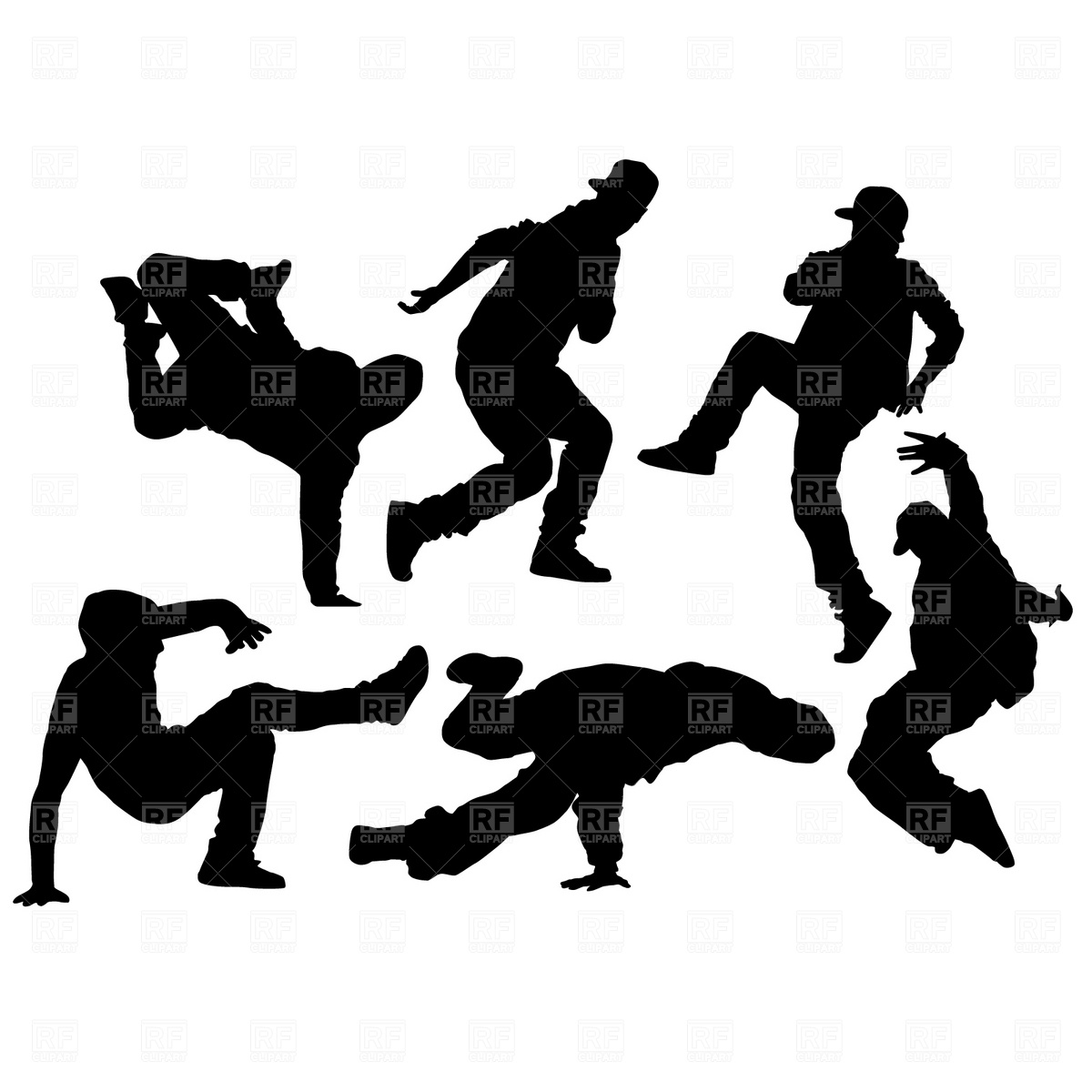Contemporary Dance Clip Art Hip Hop Dancer Silhouettes