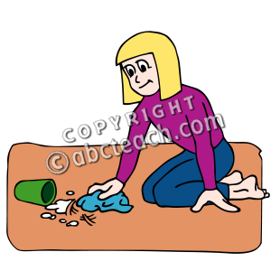 Girl Clean Up Clipart   Cliparthut   Free Clipart