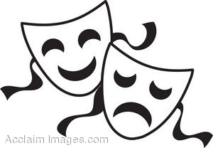 Theatre Masks Clip Art Going Over The Edge With Film And Theatre Walefestival