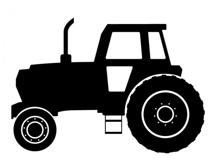 Muurstickers Tractor