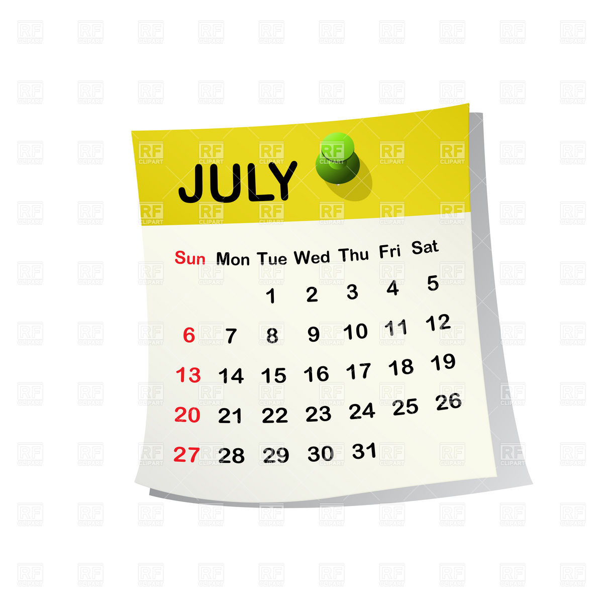 July 2014 Month Calendar 20537 Calendars Layouts Download Royalty