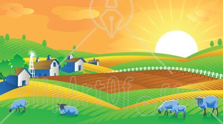 Morning Sun Clipart Agriculture And Settlements