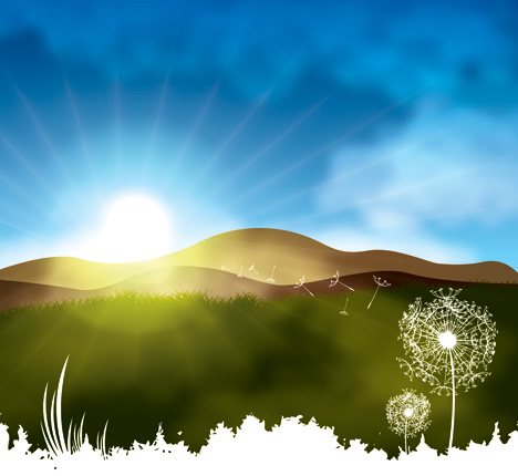 Morning Sunrise Clipart Misty Morning With Blue Sky