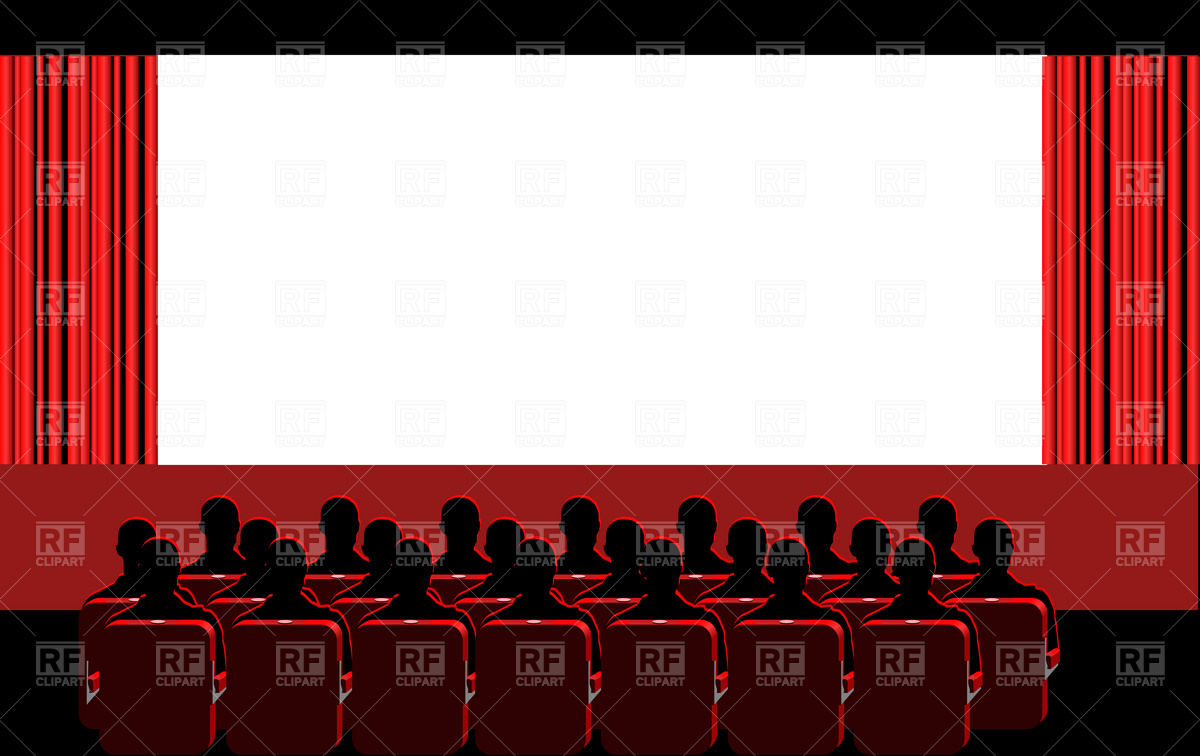 Movie Theater   Blue Hall Download Royalty Free Vector Clipart  Eps