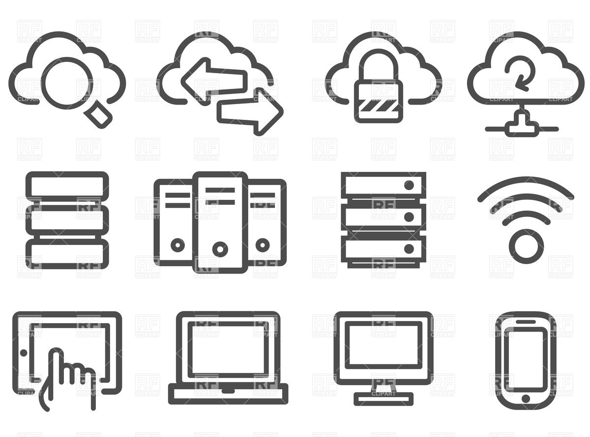 Network Icon Set 9907 Download Royalty Free Vector Clipart  Eps
