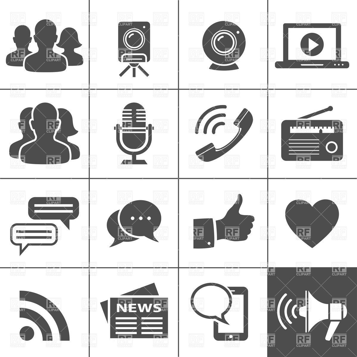 Network Icons Simplus Series Download Royalty Free Vector Clipart