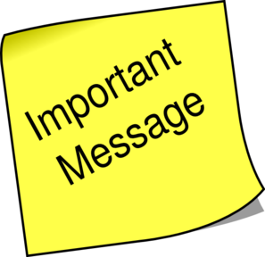 Note Important Message Clip Art At Clker Com   Vector Clip Art Online
