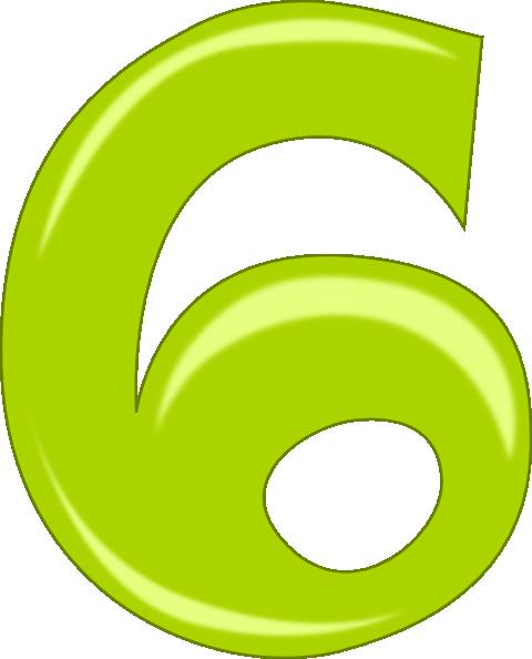 Number 6 Clip Art At Clker Com   Vector Clip Art Online Royalty Free