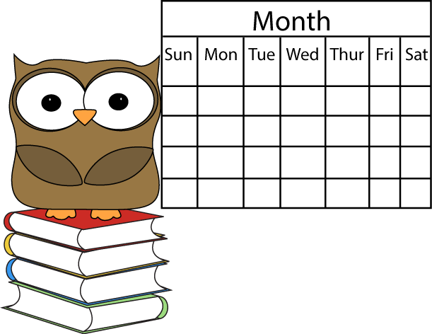 Owl And Calendar Clip Art   Owl And Calendar Image