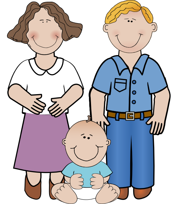 Baby With Parents Clipart - Clipart Kid