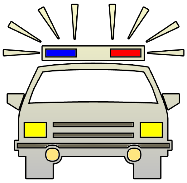 A Man In A Police Car Clipart - Clipart Kid
