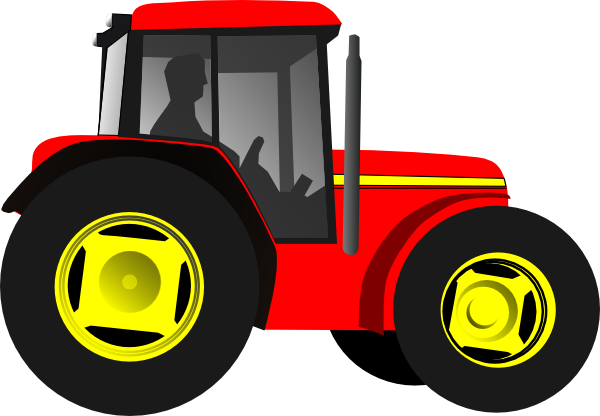 Red Tractor Clip Art At Clker Com   Vector Clip Art Online Royalty