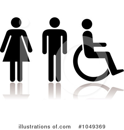 Restroom Clipart  1049369 By Michaeltravers   Royalty Free  Rf  Stock