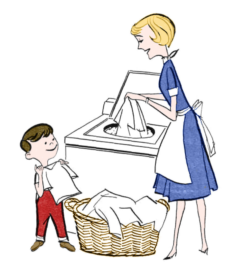 Retro Clip Art   Laundry Day   The Graphics Fairy