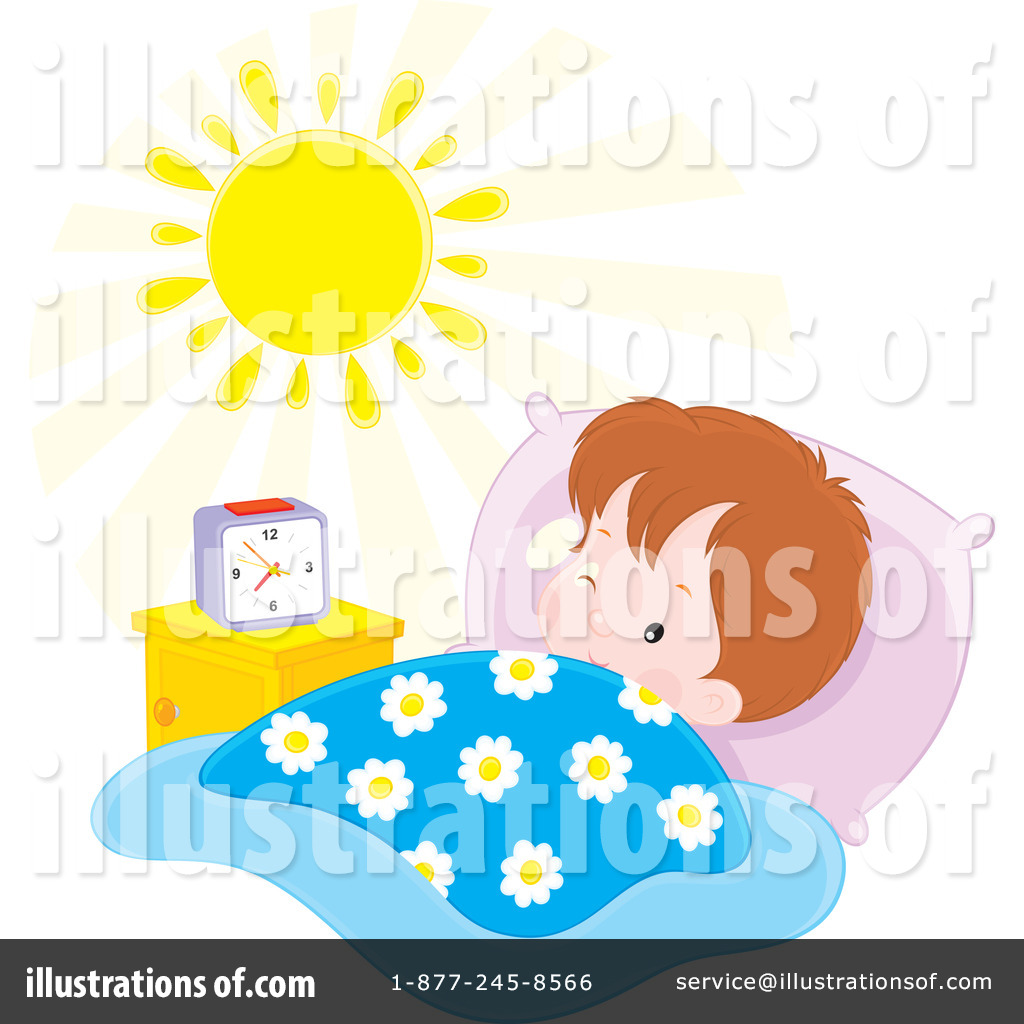 Royalty Free  Rf  Wake Up Clipart Illustration By Alex Bannykh   Stock