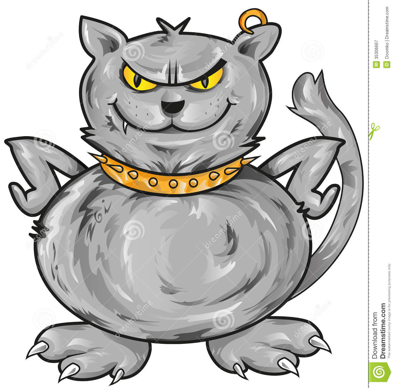 Royalty Free Stock Photography  Angry Cat