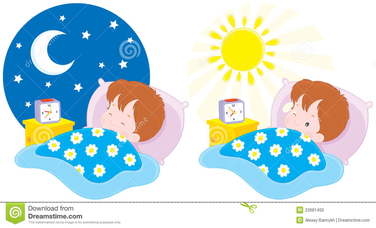 Clip Art Morning Clip Art morning and night clipart kid sleeping in bed panda free images