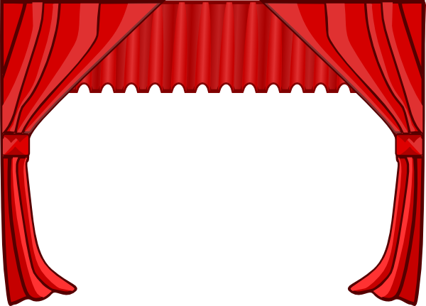 Stage curtains clipart theater curtains clip art