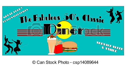 Stock Photo Of Fabulous Fifties Diner   Diner Elements For Fifties Era
