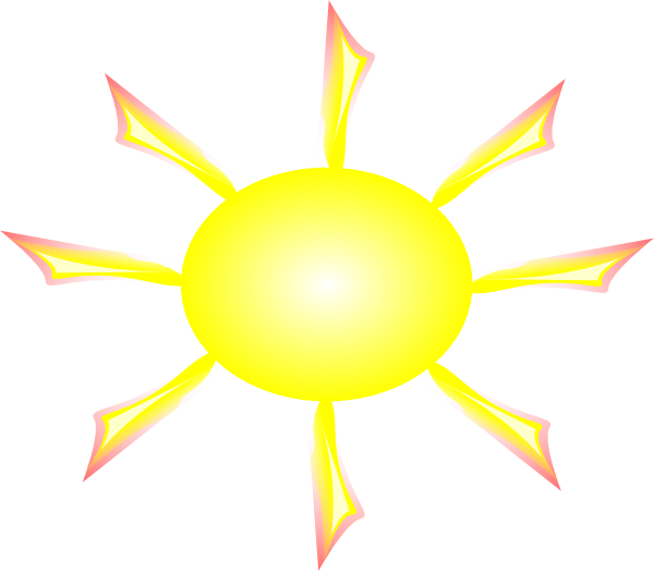 Sun And Rays Clip Art At Clker Com   Vector Clip Art Online Royalty