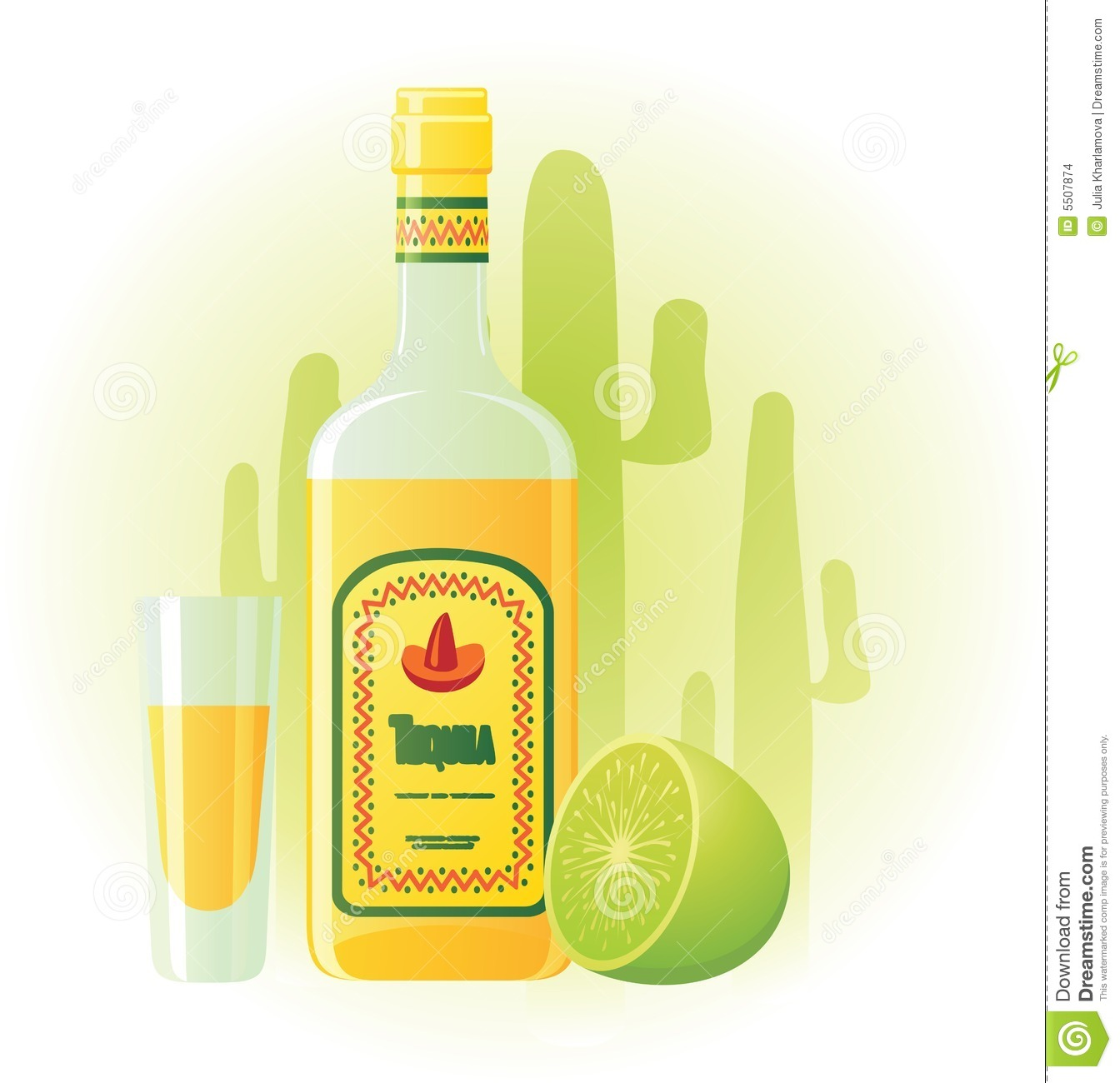 Tequila Bottle Clipart Tequila Bottle With Cup And