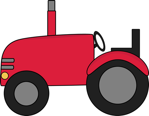 Tractor Clip Art Image   Red Tractor