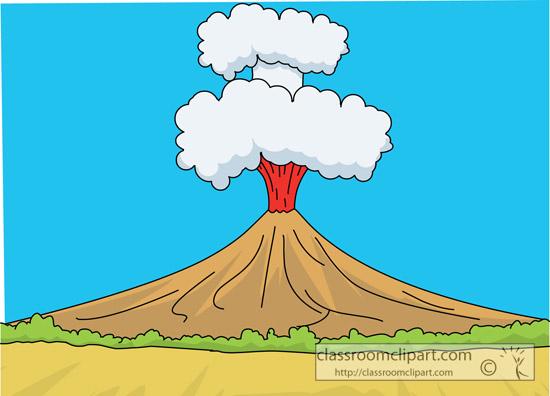 free clipart volcano erupting - photo #44