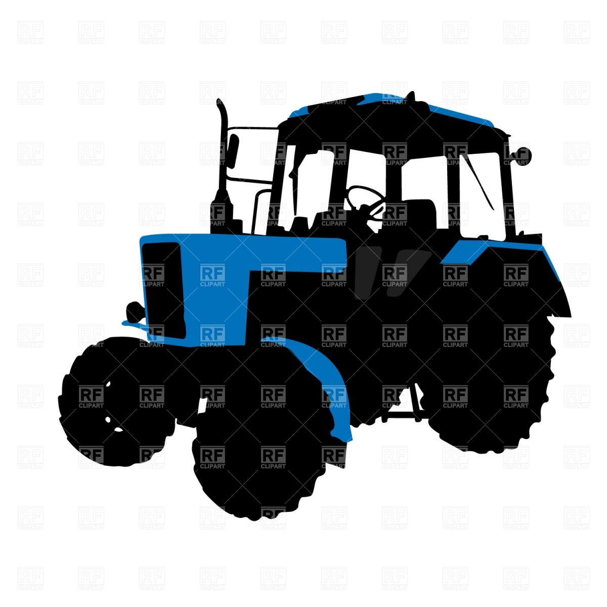 Wheeled Tractor Download Royalty Free Vector Clipart  Eps