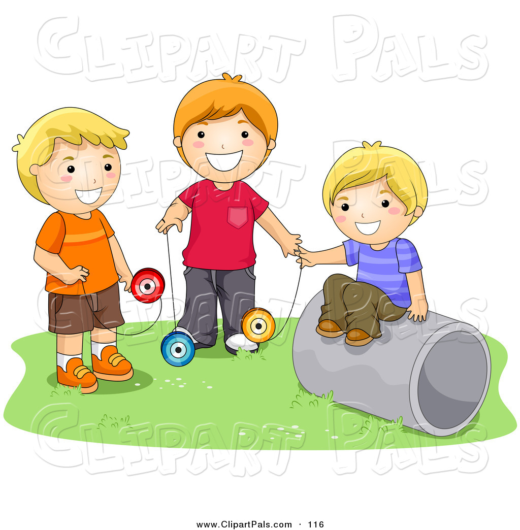 Boys Playing Clipart - Clipart Kid