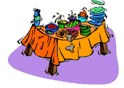 Buffet Table Clipart Overloaded Picnic Table Free