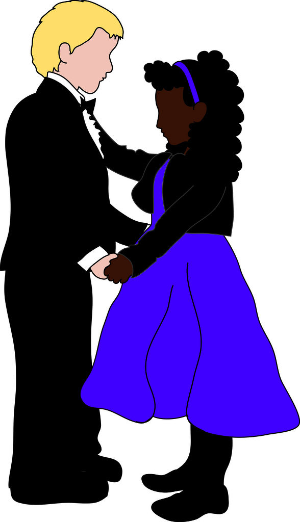Clip Art Illustration Of A Young Boy And Girl Learning To Ballroom