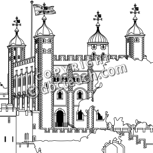 Clip Art  Tower Of London B W   Preview 1