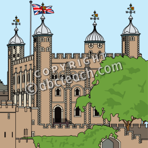 Clip Art  Tower Of London Color   Preview 1
