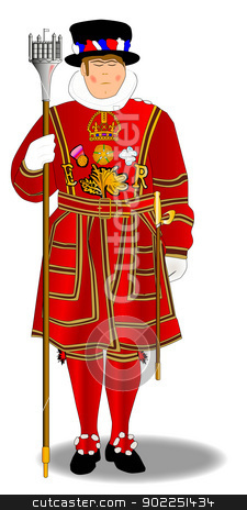 Clipart A Beefeater Of The Type Used To Guard The Tower Of London  By