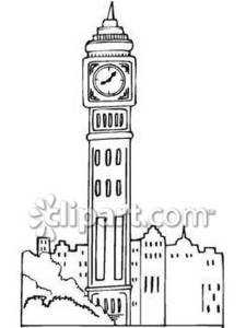 Clipart Picture Of Big Ben Clock Tower In London England