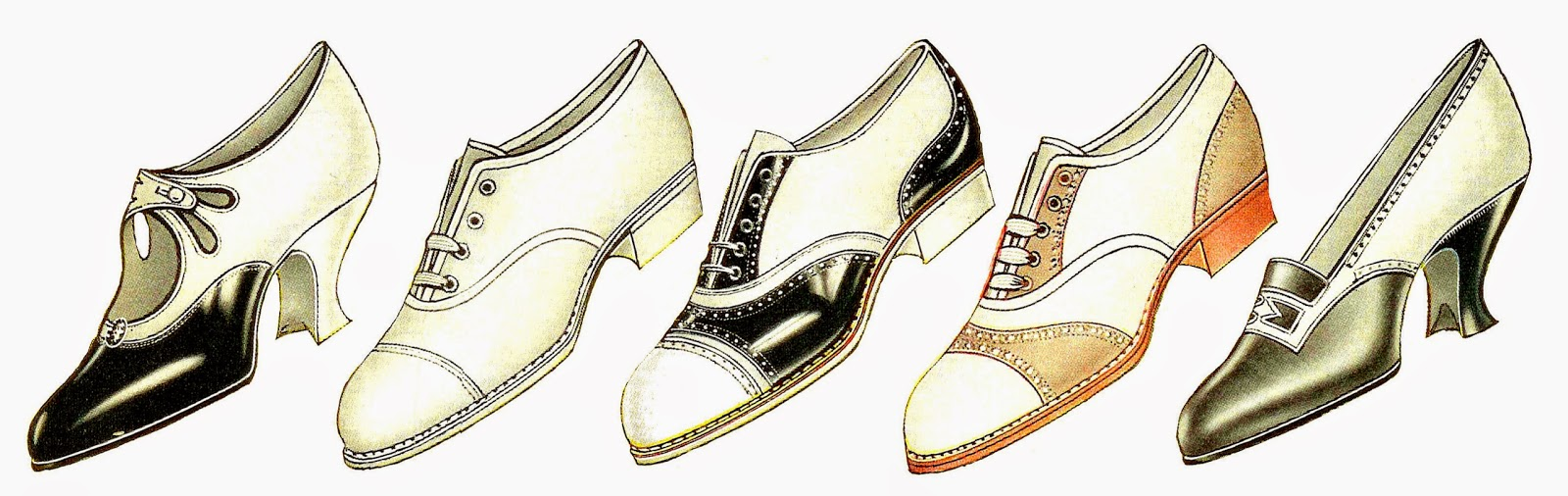 Vintage Shoe Clipart - Clipart Kid
