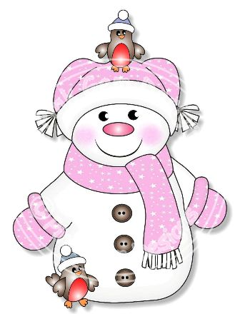 Funky Snow Girl   Digi Stamp