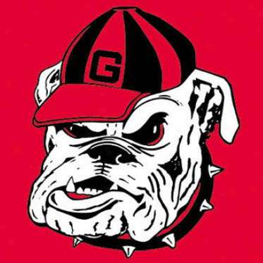 Georgia Bulldog Hat Logo   Signtorch Turning Images Into Vector Cut