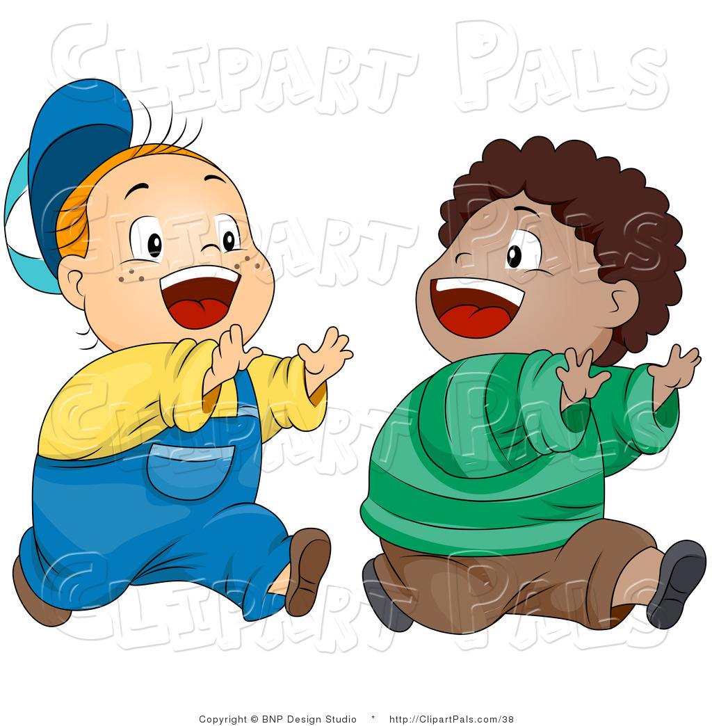 Happy Boys Playing Chase Friend Clip Art Bnp Design Studio