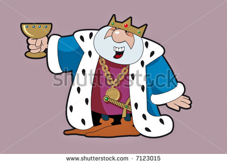 Image Stock Vector Medieval King With The Golden Cup 7123015 Jpg