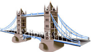 London S Famous Tower Bridge   Royalty Free Clipart Picture