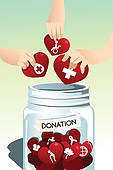 Making Donation   Royalty Free Clip Art