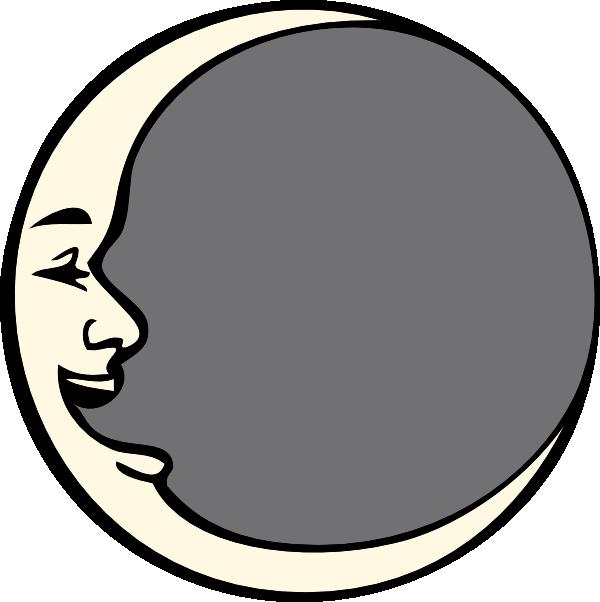 Man In The Moon Clip Art At Clker Com   Vector Clip Art Online
