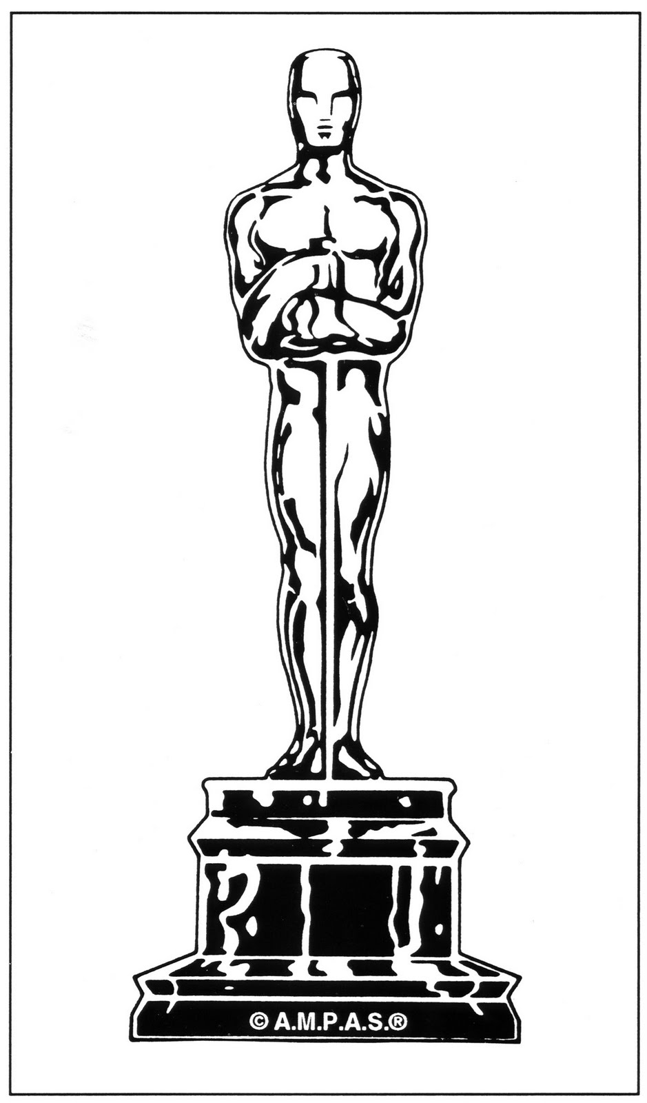 oscar statue clipart clipart suggest. Black Bedroom Furniture Sets. Home Design Ideas