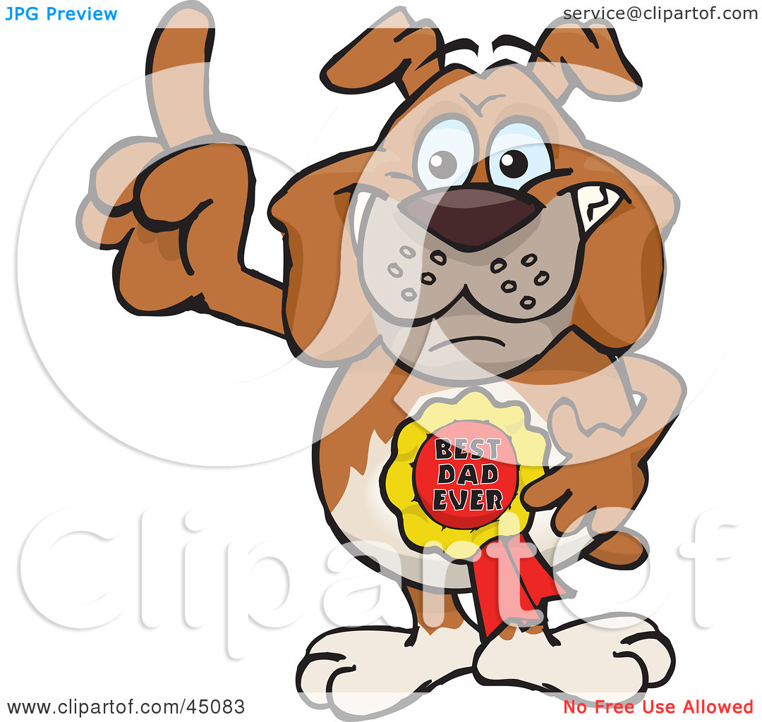 Royalty Free  Rf  Clipart Illustration Of A Bulldog Character Wearing