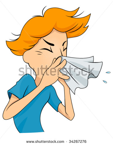 Sneezing and Runny Nose Clip Art