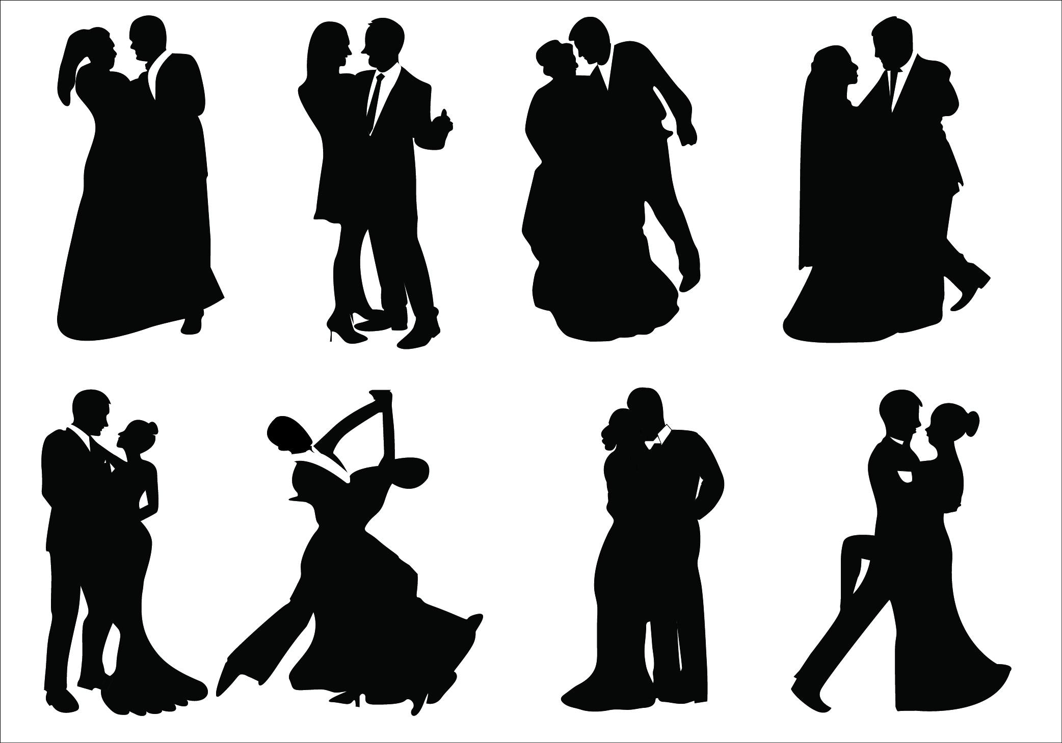free wedding silhouette clip art - photo #45