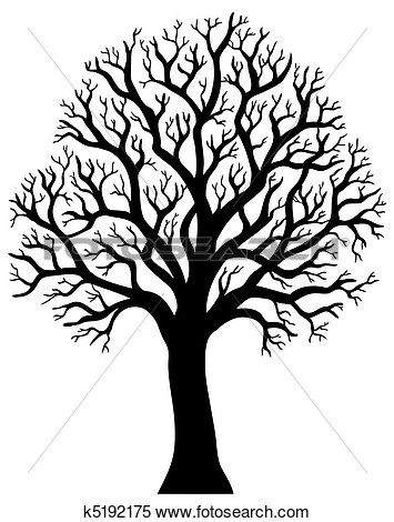 Silhouette Of Tree Without Leaf 2 View Large Clip Art Graphic