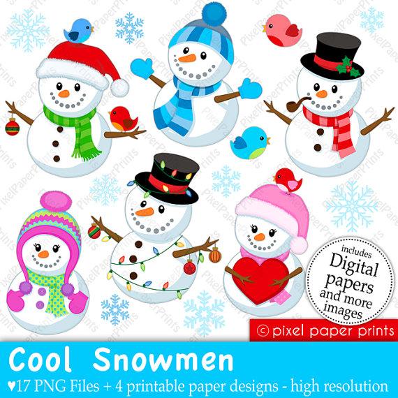 Girl Snowman Clipart - Clipart Kid